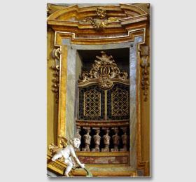 Decori del coretto del Santuario di Sommariva del Bosco