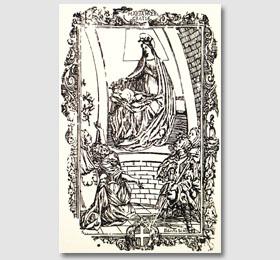 Stampa del Cayre degli inizi del 1700 del Santuario di Sommariva del Bosco,opere del Cayre,Cayre stampe,le opere di Cayre,la Madonna di Cayre
